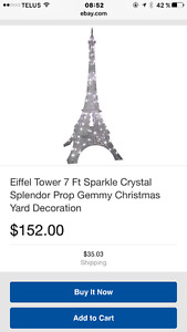 Very Unique Shimmering Eiffel Tower