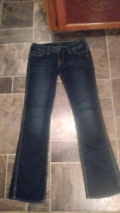 Ladie's Silver Jeans.. Size 29 Like New....