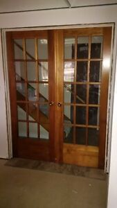 Pre-Hung Solid Pine French Doors