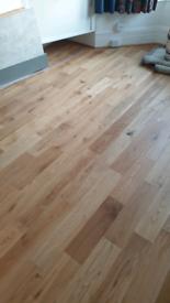 Engineered oak wood flooring (x3 boxes, 1.8sqm each)