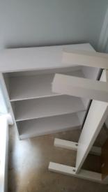 SET 2 WHITE Shelving Units IKEA Study, Conservatory, Office, Garage
