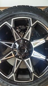 4 NEW STAR WHEELS WITH NEW FALKEN STZ05 TIRES 295/45/20