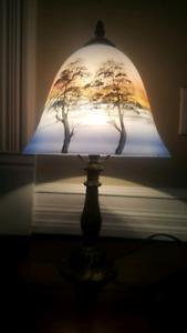 Reverse Paint Lamp Vintage Phoenix Style