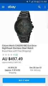 Absolutely mint Mens Citizen NightHawk Eco- Drive