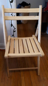 New Wooden Folding Chairs