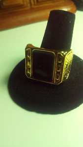18k Men's Gold Plated Ring Size 12