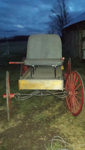 Horse drawn carriage and cart
