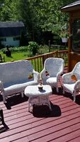 patio set wicker