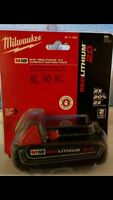 Milwaukee Red Lithium 2.0 and 4.0XC Battery Packs