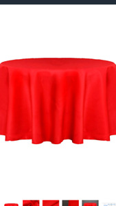 120in round table clothes 10pieces red