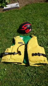 Buoyancy aid Yak and dupoint coolmax helmet