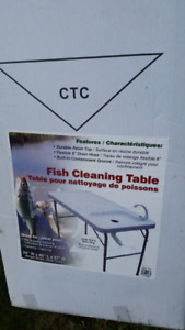 Folding fish cleaning table