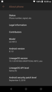 Developers Phone :160GB -Android 8.1.0.Oreo- LgG4 $800 ROOTED