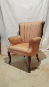 Comfortable Mid-Century Queen Anne style chair