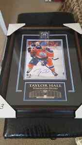Taylor hall 8x10 framed,autographed picture