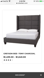 URBAN BARN QUEEN SIZE BED