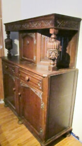 Vintage Antique Hutch Cabinet with Secret Compartment. Belgium