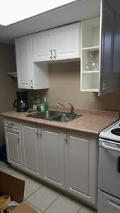 Full kitchen from basement apartment