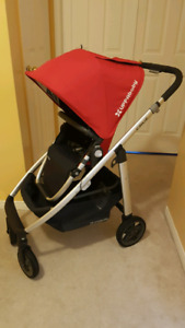 Uppababy cruz stroller and bassinet
