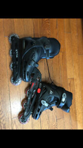 New black  Roller blade youth size j 12 - 2