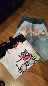 Girls size  12 shorts and t-shirts collection