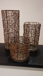 Pillar Candle Holder Trio - PartyLite