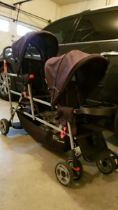 Joovey double sit and stand stroller
