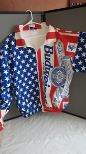 BUDWEISER STARS AND STRIPES XL LEVI COAT- NEW- REAL NICE!