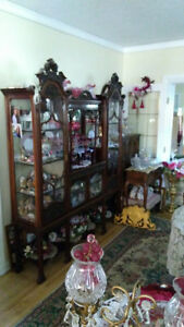 Antique Victorian China cabinet 200 yrs old