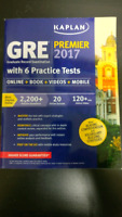 NEW GRE STUDY GUIDE + KAPLAN + 6 Tests + Online