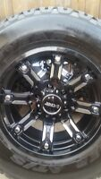 4 NEW DCENTI RIMS WITH NEW GOODYEAR WRANGLER AT/S 265/70/17