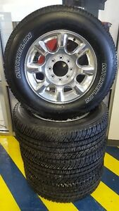 "F350 20"" POLISHED ALUMINUM SUPERDUTY TIRE AND RIMS"