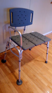 Sturdy Adjustable Transfer Bench with Backrest, Gently Used