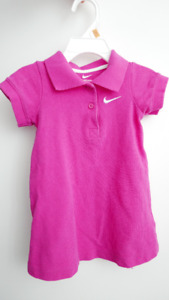 *** HOT PINK NIKE POLO DRESS SIZE 2T ***