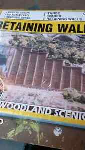New Timber Retaining Wall HO Scale