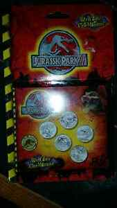 Jurassic Park collectible coin set with stickers and booklet.... London Ontario image 1
