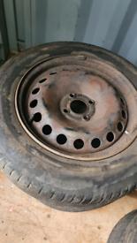 Renault Megane Steel Wheels with tyres