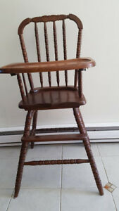 Antique infant highchair