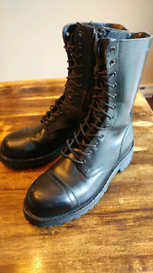 Dr.Martens style Black Leather Army Boots