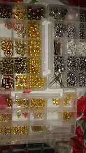 Supplies and beads for making jewelry or crafting, get creative.