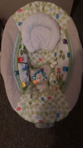 White baby bouncer chair