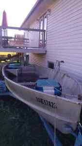 16' boat and trl. No leaks. Camper/Trailer or trades interested.