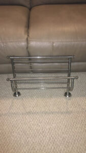 brand new contemporary brushed metal towel rack