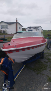 16 foot boat with 40 hp Johnson commercial motor/ trailer