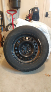 Winter Tires and rims 235/65R17 - Goodyear Winter Nordic