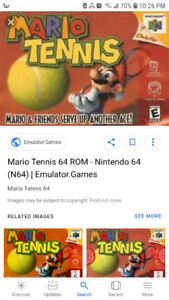WANTED Mario tennis for N64 and controllers