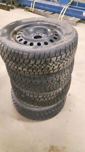 winter tires and rims off dodge caliber 255/55 R17