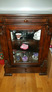 Beautiful solid wood curio cabinet