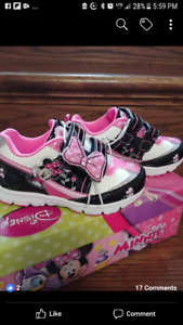 Disney Minnie Mouse and Frozen toddler shoes brand new in box