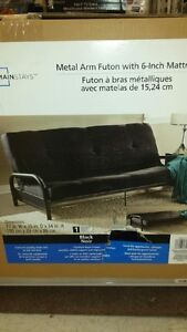 futon, 4 months old, used twice, like new $110